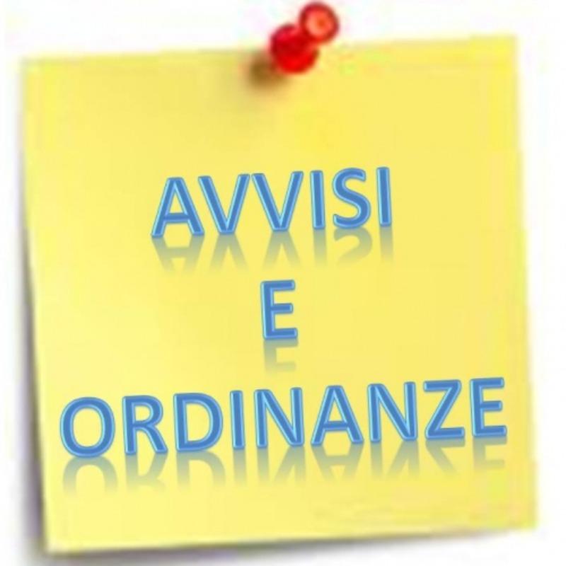 Avviso del 23-09-2020: Ordinanza n. 3075 del 23...